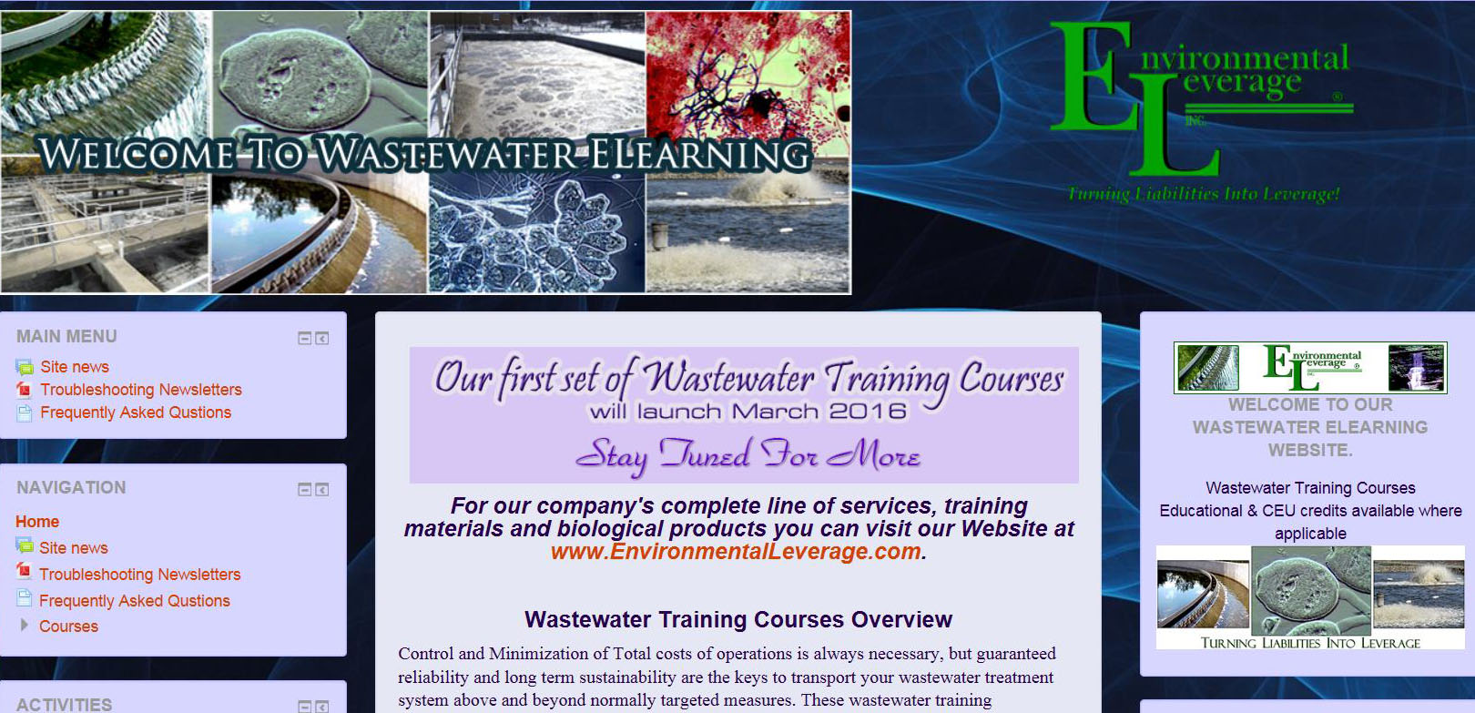 WAstewater Elearning